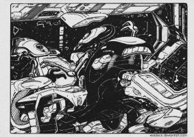 hyperspace race by Waldeck