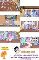 Critica a la 4ta temp de My little pony 3ra parte by reina-del-caos