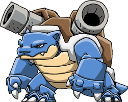 Blastoise by Hologramzx