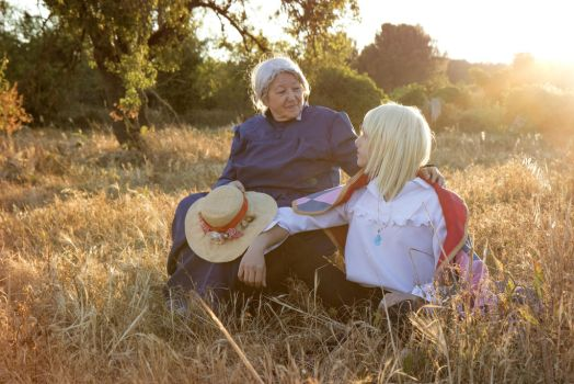 Howl's Moving Castle, Sophie and Howl Cosplay by hakucosplay