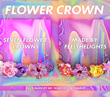 #. FLOWER CROWNS / CORONAS DE FLORES .PNG by FeelTheLights