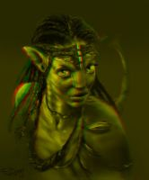 neytiri RED GREEN 3D version by SteveDelamare
