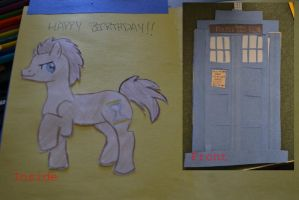 TARDIS Birthday Card by micperson