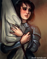 speed paint - joan of arc by anephilimrising