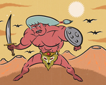 SOLARIUXX THE TANNED WARRIOR by paintmarvels