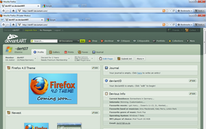 Firefox 4.0 Theme DISCONTINUED by dert07