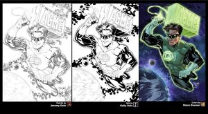 Green Lantern FCBD process by thejeremydale
