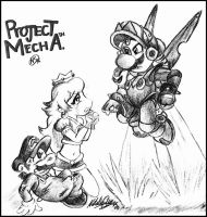 Project Mecha- Peach's plea by NatSilva