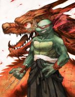 raph with a dragon by s-bis