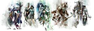 Guild Wars 2 Races Wallpaper by Arixev