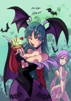 Morrigan and Lilith gift by MarisaArtist