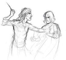 Sketch - Sirius and Severus by aspera