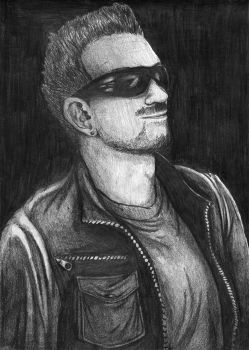 Bono from U2 by Ari-chaan