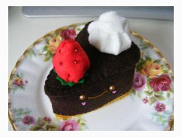 Choc cheesecake plush by ninjamoy