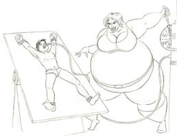 Claire inflates Milton by FatClubInc