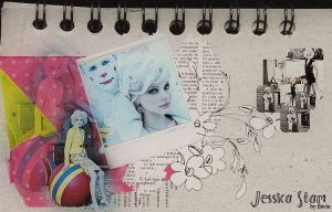 Jessica Stam collage by demolitionn