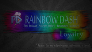 Rainbow Dash - warning banner by pims1978