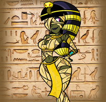 Emily the Mummy Girl: 2015 by InFAMOUS-Toons