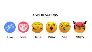 Facebook Owl Reactions by Redilion