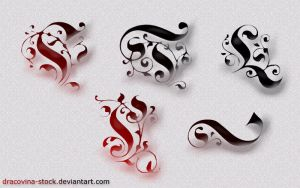 Deco Swirls Brushes by Dracovina-Stock