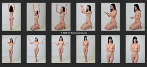 Raven 12 Nude Prayer and Idol Worship Poses Stock by ArtReferenceSource