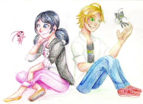 Marinette And Adrien by nuttyjigs