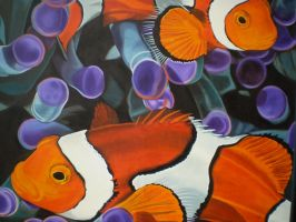 Clown fishes by riodream