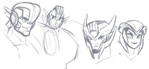TRANSFORMERS - OC Sketches by lauren-bennett