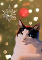 Christmas Cat by Neheriel