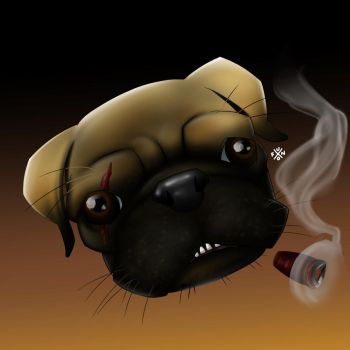Pug by emoboyfuno