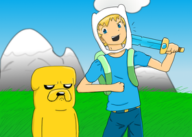 Finn and Jake by TheBenGray