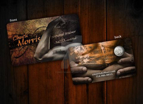 Personal Trainer Business Card by smontgomery