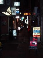 Neon Lights in the Alley by AntiRetrovirus