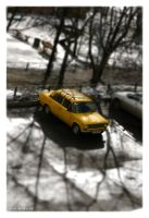 Yellow car by Suryakami