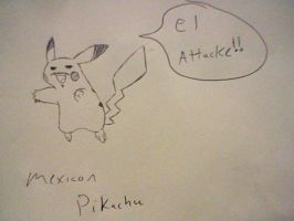 Mexican Pikachu by lastchancelimited