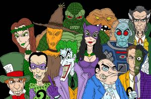Arkham Asylum Regulars by Lordwormm