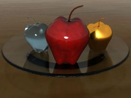 Plate of Apples by 3dmodeling