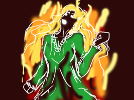 [Quick Drawing] Mary on Fire by Pianodream