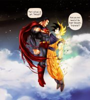 Superman vs Goku by lchrno