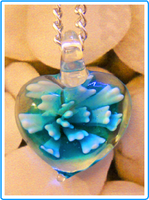 Aquamarine Heart Necklace by LypticDesigns