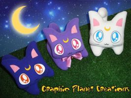 Sailormoon Kittens Plushies by GraphicPlanetDesign