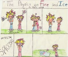 The Physics on Fire and Ice: Yami and Yugi by Aisheyru-Fox