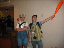 Kumoricon 2009: Ness and Porky by Red-Supernova64