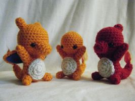Charmander Evolution Set by yourstarrysky