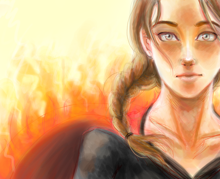 katniss- the girl on fire by DramaQueen14