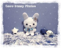 Snow Bunny Plush by littlepaperforest