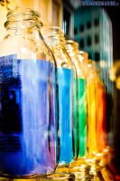 rainbow bottles. by diamondmarine