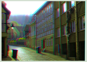 Blankenburg in the Harz Mountains ::: Anaglyph 3D by zour