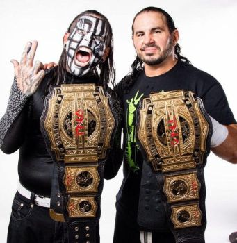 Matt Hardy and Jeff Hardy TNA Tag Team Champions  by Bobman235