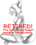 .Retired Premade. Anthro W/ Hoodie::Legs Crossed by ScarlettFeather